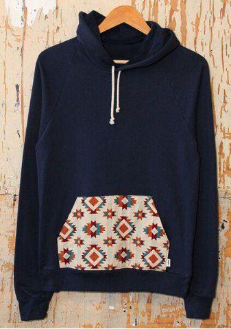 Casual Hooded Long Sleeve Printed Pocket Design Women's Hoodie 2