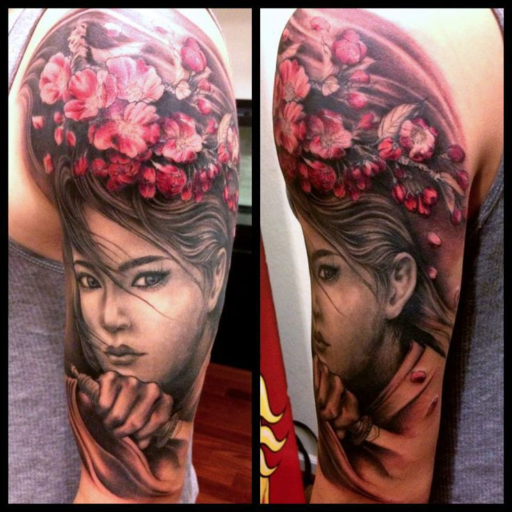 19 best full sleeve tattoos girls images on pinterest for Demon half sleeve tattoos