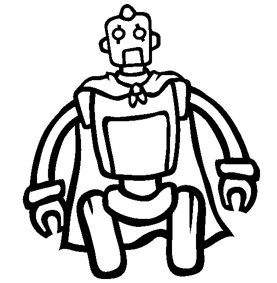 Robots Robot Robe Coloring Pages For Kids Printable