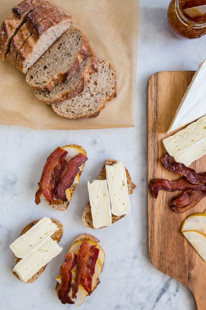 Grilled Brie with Bacon and Pear / See and Savour