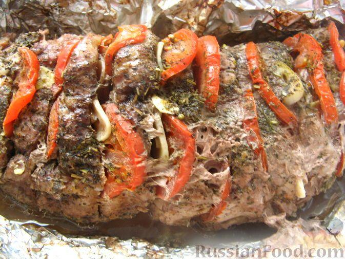 Рецепт: Мясо в фольге с итальянским акцентом на RussianFood.com