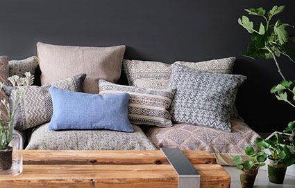 Beautiful blockprinted cushions giving a personal touch to your home