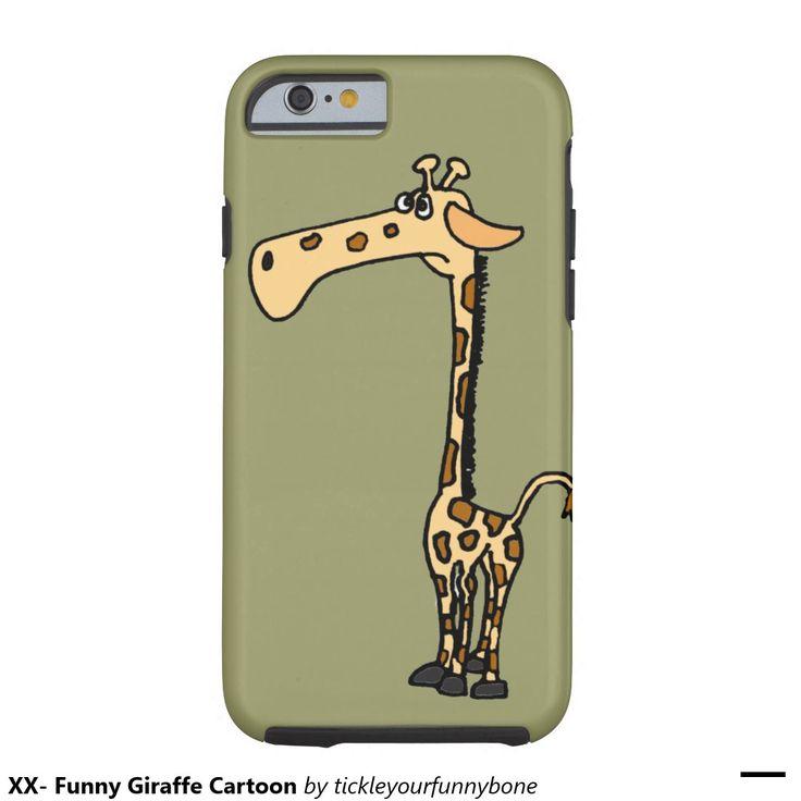 XX- desenhos animados engraçados do girafa Capa Tough Para iPhone 6