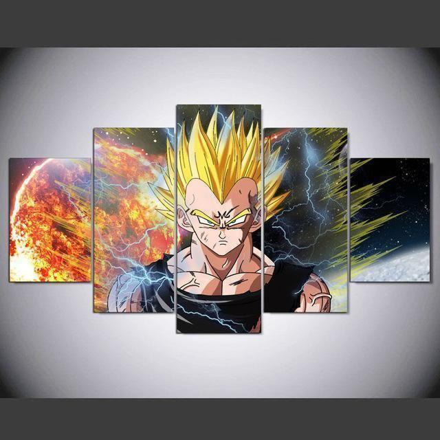 Dragon Ball Z Vegeta Anime Canvas Wall Art Anime Canvas Canvas Art Wall Decor Customized Canvas Art