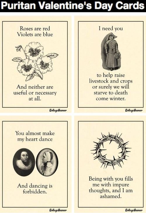 collegehumor:    Puritan Valentine's Day Cards [Click for more]  Let us never speak of this again.