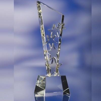 STAR EXPLOSION GLASS AWARD TROPHY...  Size: 248x80x55mm. Minimum Quantity: 1.
