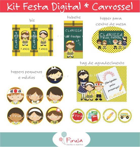 Kit Festa Digital Carrossel