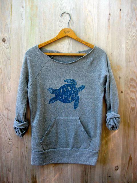 be+still+my+Sea+Turtle+Sweatshirt+Turtle+by+nicandthenewfie,+$36.00