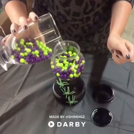 How to Make Halloween Candy Jars #darbysmart #diy #diyprojects #diyideas #diycra…