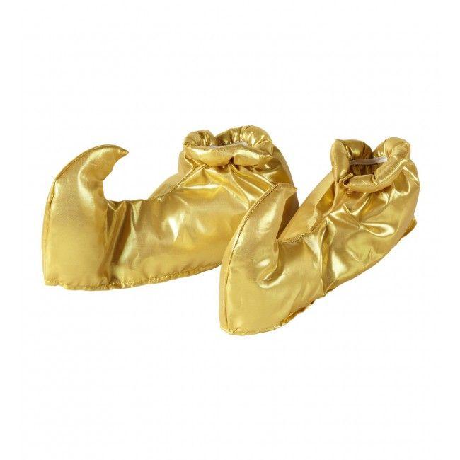 Überschuhe - Schnabelschuhe in gold zum kombinieren für orientalische Verkleidungen.