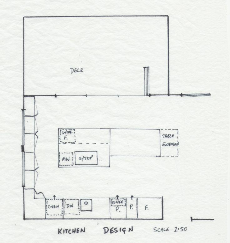 Beautiful Final Kitchen design floor plan by Lynette Nisbet