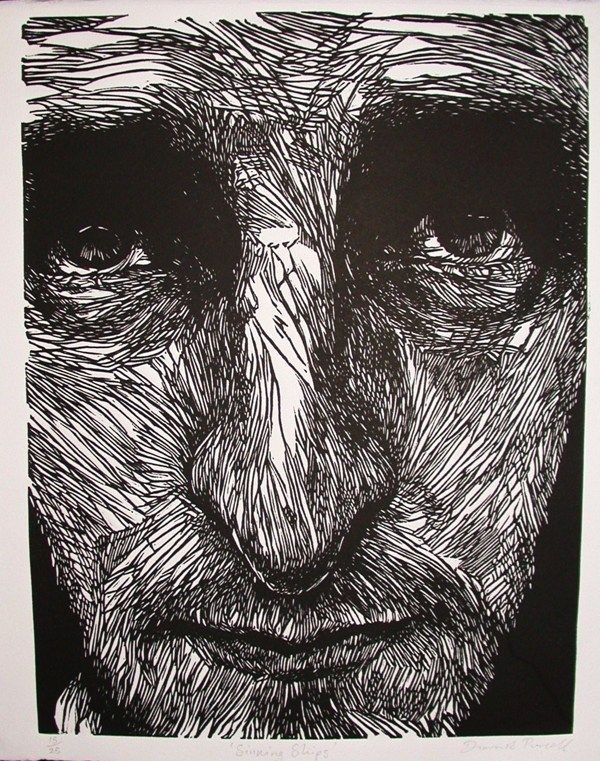 Linocut Prints by Diarmuid Purcell, via Behance
