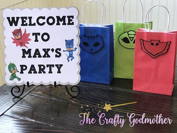 Disney Jr. PJ Masks Welcome Birthday Party Door Sign