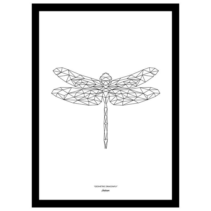 New format Limited edition Geometric Dragonfly Art print from Martyn White Designs. Available in multiple sizes, with or without border. Each print is signed and numbered.