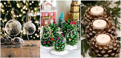 41 fantasztikus ötlet, hogyan készíts karácsonyi dekorációt tobozokból!