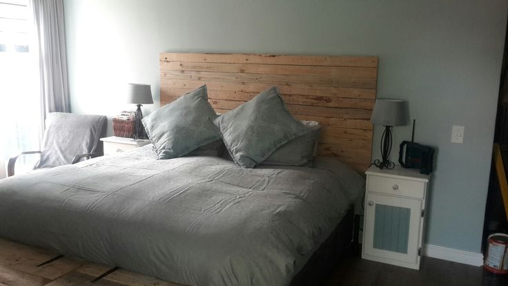 In love with our headboard. Can't believe we did it ourselves