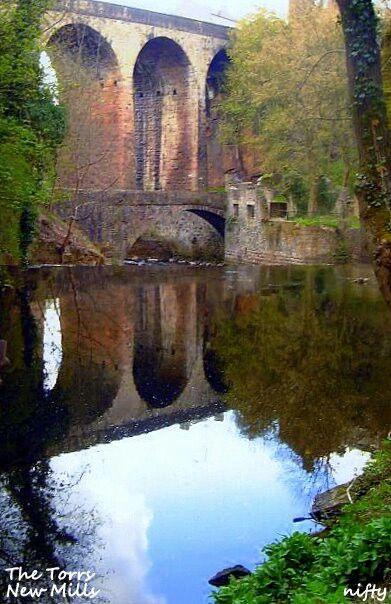 The Torrs Riverside Park. New Mills. High Peak. Derbyshire UK
