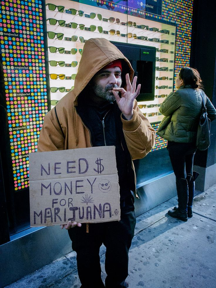 https://flic.kr/p/yH4eXw | Need money for marijuana | Times Square, New York