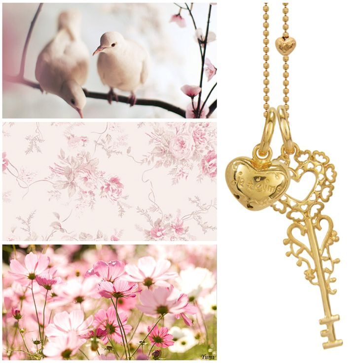www.blossomcopenhagen.com follow your heart with this lovely necklace in gold plated sterling silver