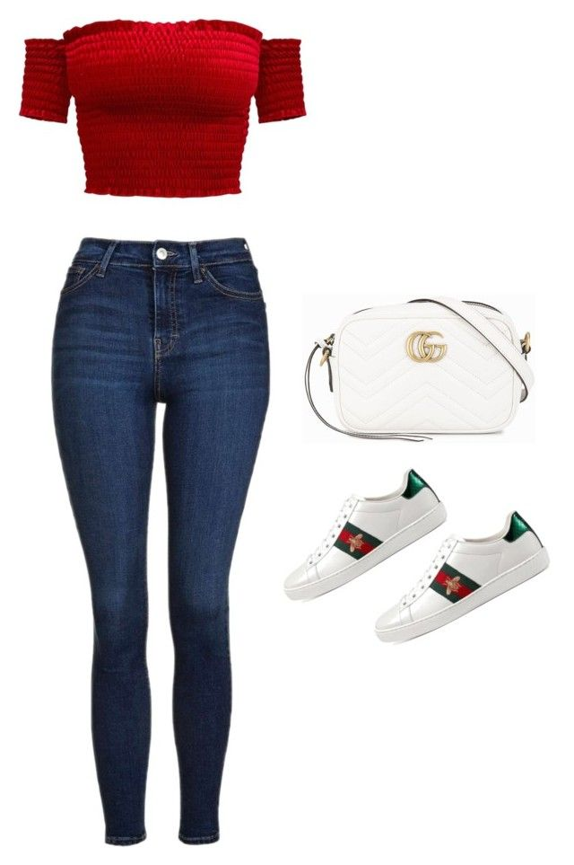 """""""Untitled #725"""" by maritzawaffles on Polyvore featuring Topshop and Gucci"""