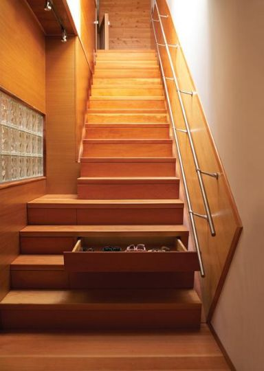 13 ways to efficiently use your staircase space.
