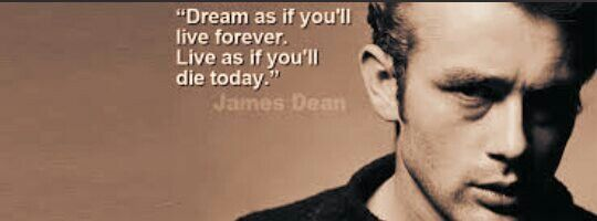 James Dean quote Fbcover