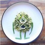 Mãe transforma as refeições do filho em personagens de desenho animado