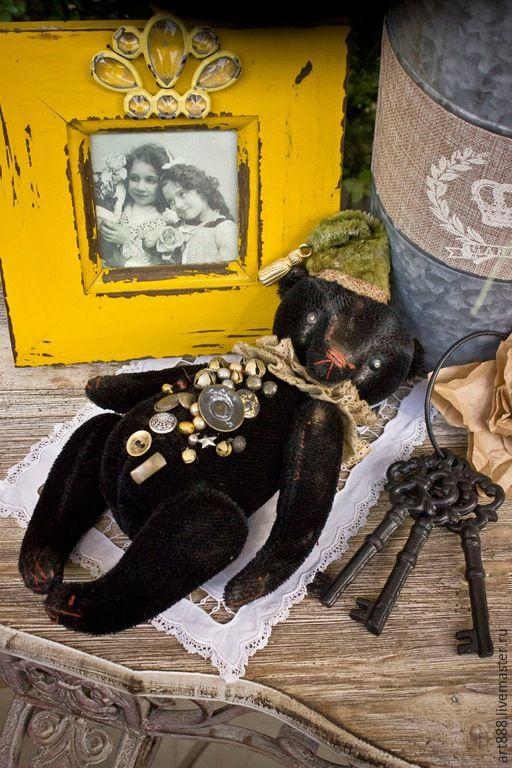 Купить Медведь тедди Тони - черный, тедди, медведь тедди, авторская ручная работа
