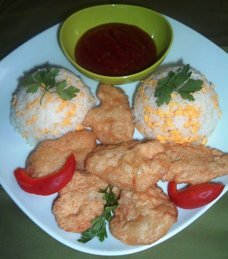 Illatos-omlós csirkefalatok