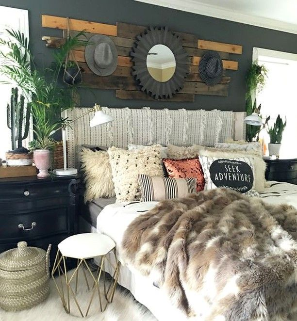 Boho Glam Rustic Bedroom