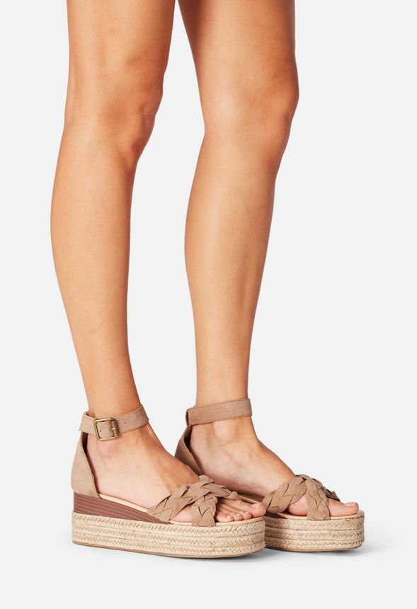 0a6ed035a9d77 Corinna Espadrille Wedge in Taupe - Get great deals at JustFab ...