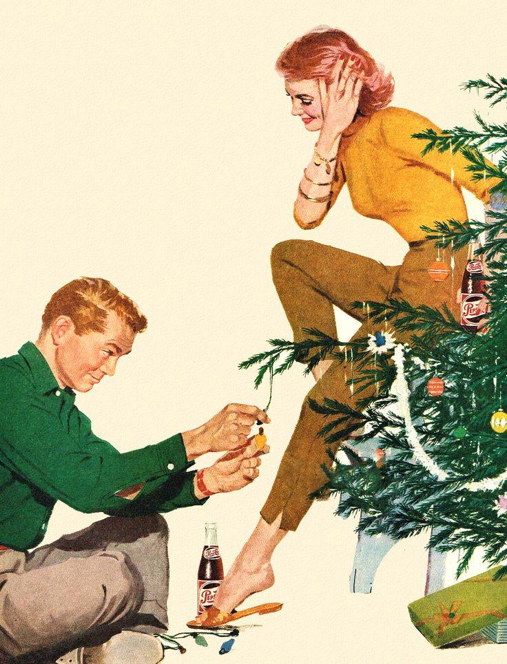 Vintage Christmas Pepsi ad, 1956