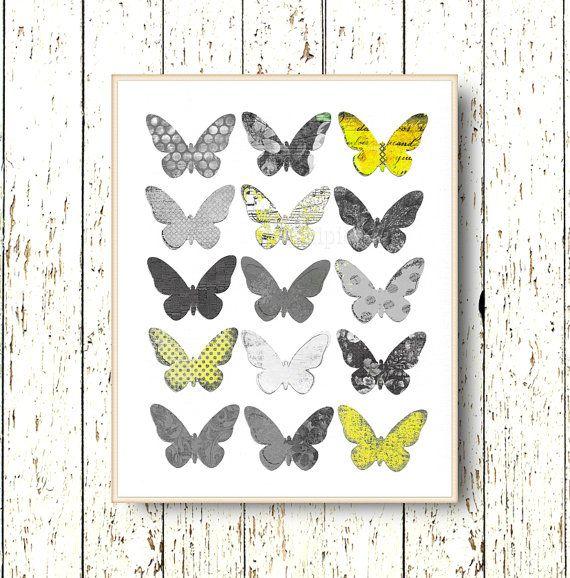 Butterfly wall art decor  Living room art  bedroom by LilChipie, $14.00