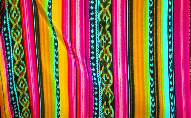 Mexican Fabric, Aztec Fabric, Tribal Fabric, Fabric by the Yard, Mexico, Cotton Fabric. $12.00, via Etsy.