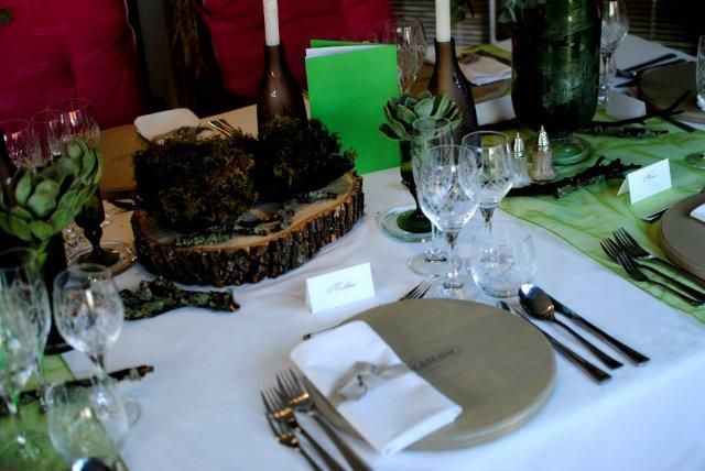 Table decor at Plascon Double Velvet Birthday Competition prize dinner