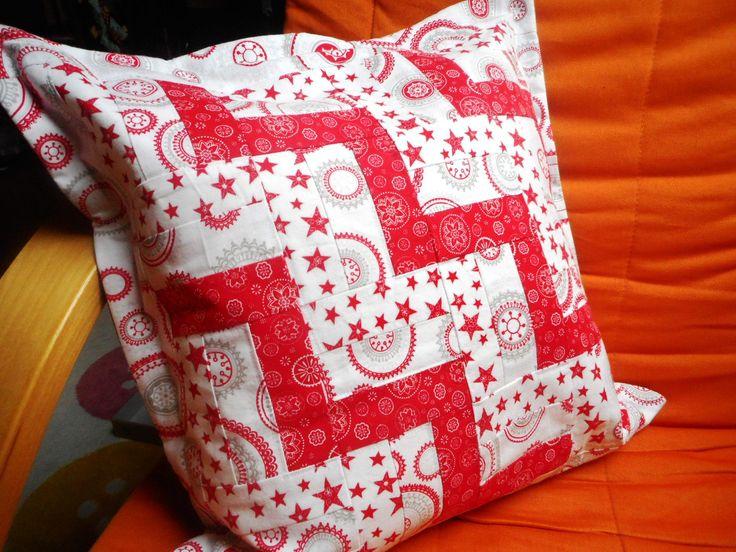 Vánoční patchworkový polštářek