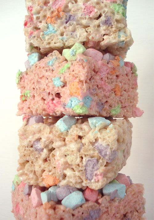 Pastel Rice Krispie Treats: Food Colors, Food Drinks Desserts, Pastel Colour, Lucky Charms, Charms Treats, Pastel Treats, Charms Rice, Rice Krispie Treats, Rice Crispy Treats