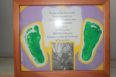 DIY Father's Day Gift Idea - Framed Poem and Footprints
