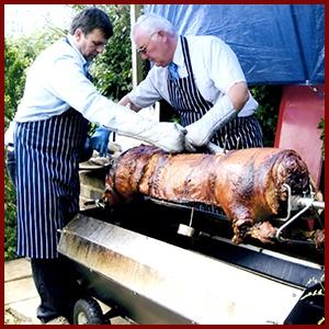 Hog roast in the evening