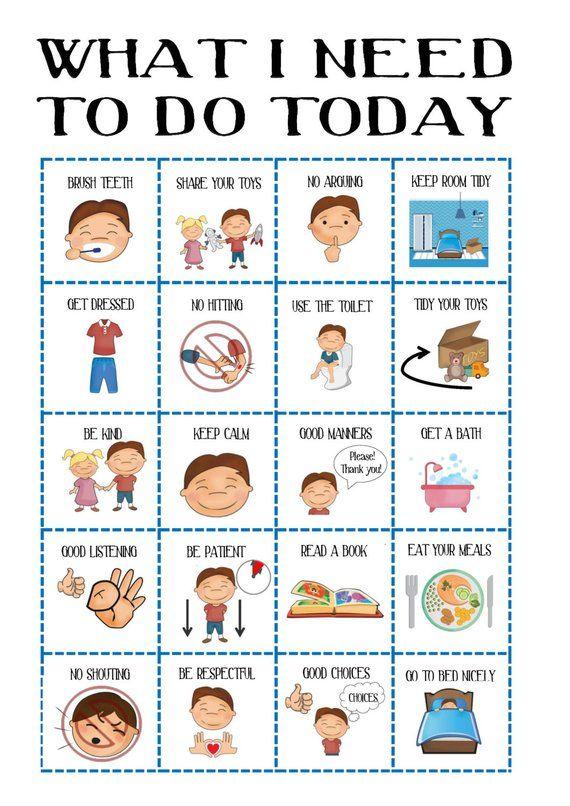 Reward Chart Autism//ADHD//SEN//Children