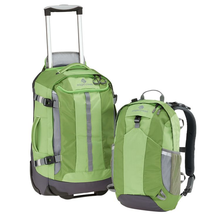 Eagle Creek Travel Backpack with Wheels   DoubleBack 22 in Cactus Green