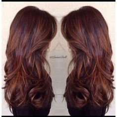 Caramel and butterscotch balayage ombré. I want my hair like this. So much. Beautiful rich warm brown with caramel and butterscotch hair melting ombré to give …