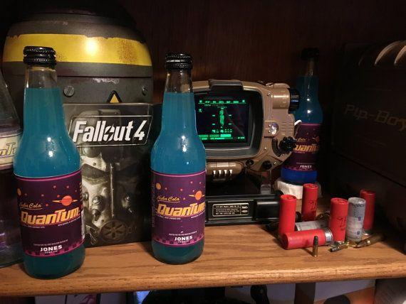 Fallout 4 Nuka Cola Quantum (1) (Jones - Target) REPLICA + Two FREE Nuka Cola caps!