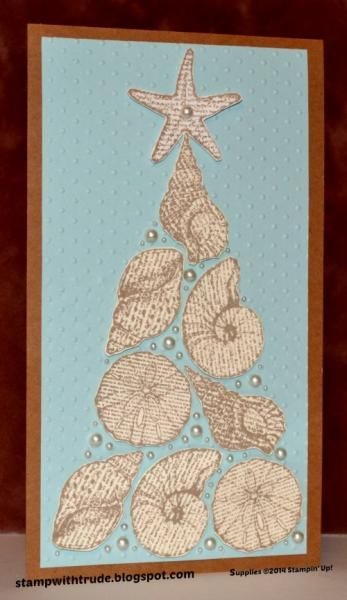 Christmas By the Seashore card by stampwithtrude - Cards and Paper Crafts at Splitcoaststampers