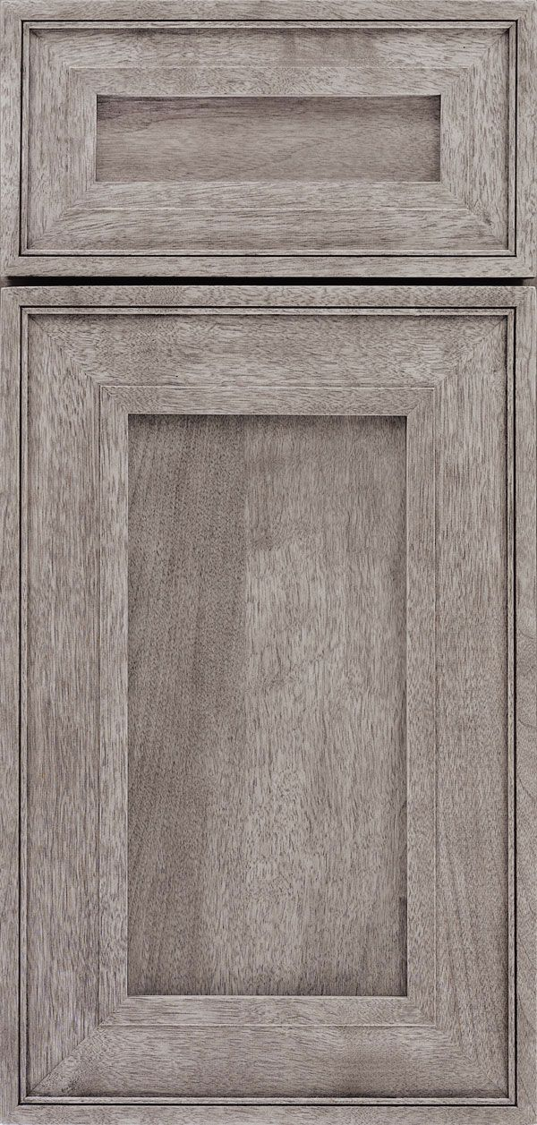 Cabinet Door Styles Gallery - Custom Cabinetry - OmegaCabinetry.com Perrini door, Walnut wood, porch swing finish