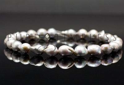 Zoetwater parelcollier Barok grijs 13-28 mm [BRK-ZW-14] : Pure & Timeless, Parels en parelsieraden