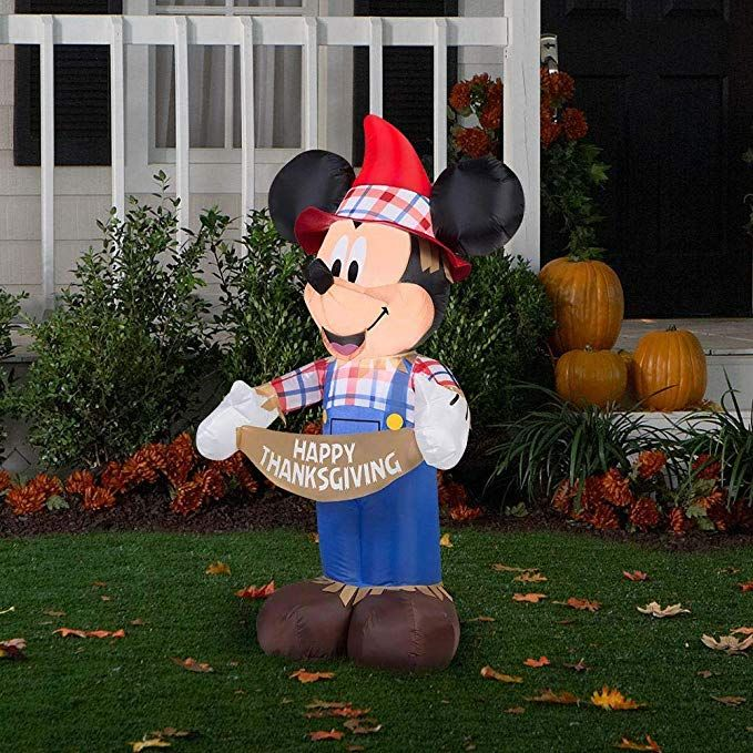 Disney Discovery Inflatable Mickey Thanksgiving Yard Decoration With Images Disney Decor Christmas Stocking Hangers Disney Thanksgiving