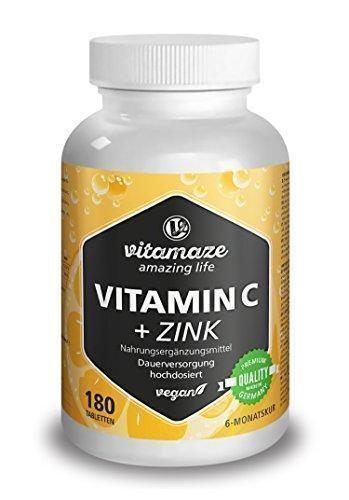 Oferta: 14.87€ Dto: -44%. Comprar Ofertas de Vitamina C altamente concentrada, 180 comprimidos veganos de 1000 mg + bioflavonoides + zinc, suficientes para 6 meses, produ barato. ¡Mira las ofertas!
