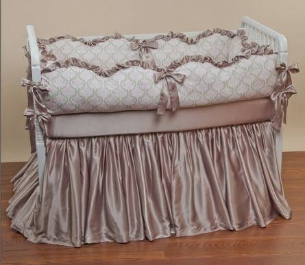 elegant deep purple crib bedding alanna 39 s room ideas pinterest skirts girls and bassinet. Black Bedroom Furniture Sets. Home Design Ideas
