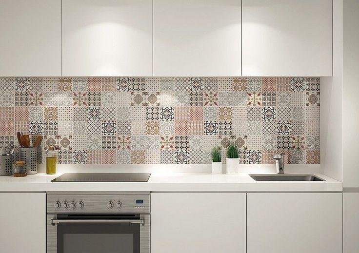 Cr dence cuisine carreaux de ciment patchwork et artistique cuisine patchw - Carreaux de ciment patchwork ...